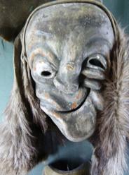 Saganser Maske von Maskenschnitzer Albert Anton Willi